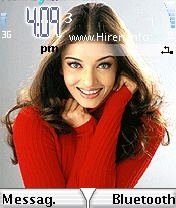Aishwarya Rai in Red Top Smiling