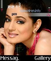 Amisha Patel Pink Nice Theme
