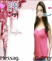 Preity Zinta Pink Theme