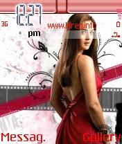 Preity Zinta Sweet Red Phone Theme