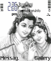 Radha Krishna Black n White Theme