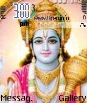 Vishnu Bhagwan Phone Theme