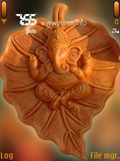 Shri Ganesh in Leaf