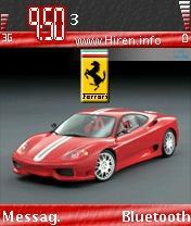 Ferrari Superb Red Car Mobile Theme