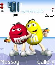 M and M Red Yellow Theme