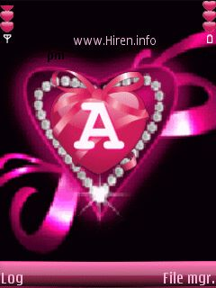 A Letter Pink Animated