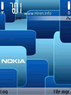 Animation Nokia Blue Mosaic