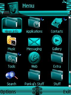 Downloads » Mobile Stuff » Themes for Nokia S60 3rd » Neon Animated