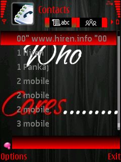 Downloads » Mobile Stuff » Themes for Nokia S60 3rd » Who