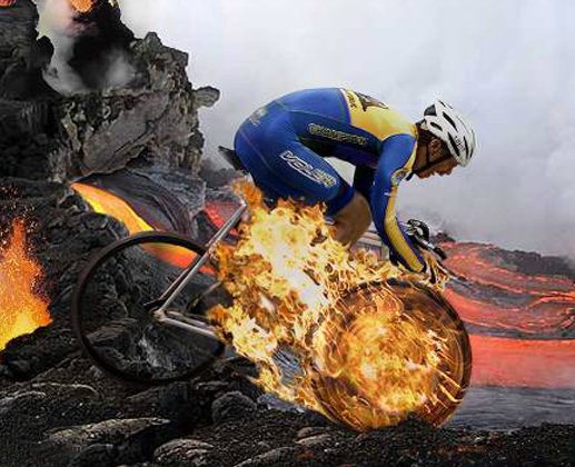 Bike in Fire