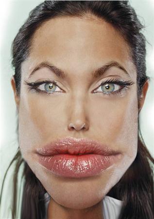Photoshoped Angelina Jolie